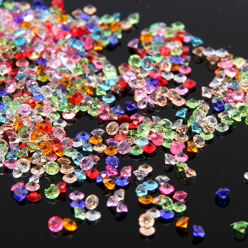 500pc diamant confettis Vase remplissage fête décoration pour mariages nuptiale douche 4.5mm acrylique cristaux remplissage perles Table dispersion