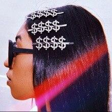 Новая горячая мода письмо слово горный хрусталь кристалл заколка для волос булавка орнамент заколки-пряжки аксессуары для волос