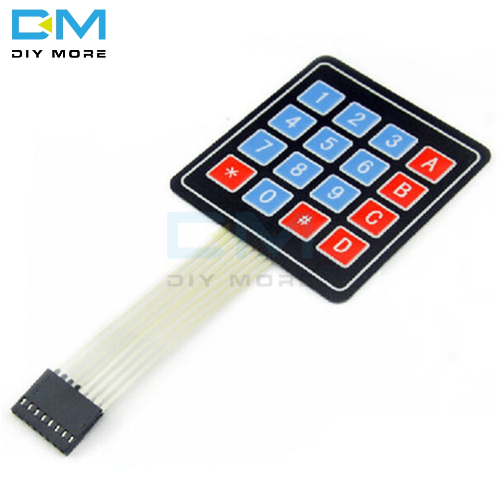4x4 Keypad Matrix Keyboard Buttons LED For MCU PIC ATMEL AVR Arduino Smart car