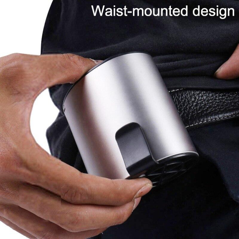 Waist Fan,Portable Handsfree USB Fan,Mini Wearable Clip On Fan,Strong Wind,1200MAH Rechargeable Battery For Camping, Fishing
