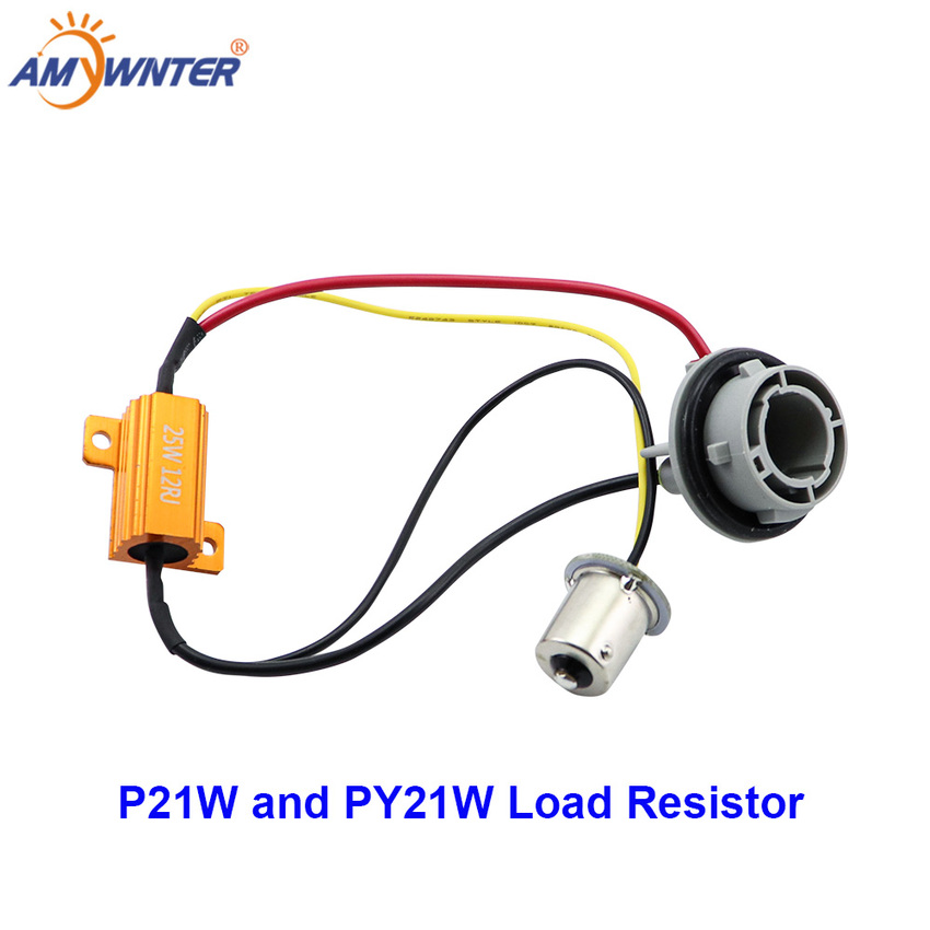 AMYWNTER 1156 BA15S BAU15S P21W 1056 PY21W Car Canceller Decoder LED Load Resistor 12V 25W Canbus No Flickering Decoder