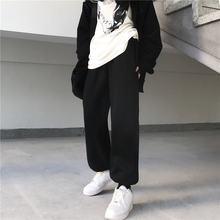 Модный тренд однотонные простые Стильные Плотные хлопковые брюки