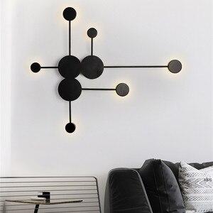 Скандинавский Простой настенный светильник, современный декор для гостиной, затмение, настенный светильник для спальни, ванной комнаты, зе...