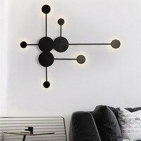 북유럽 간단한 벽 램프 현대 거실 장식 이클립스 벽 조명 침실 욕실 거울 램프 복도 조명 Luminaires
