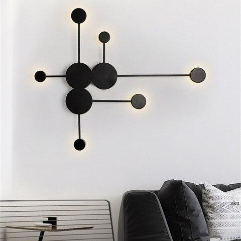 nordic simples lampada de parede moderna sala estar decoracao eclipse luz parede quarto espelho do