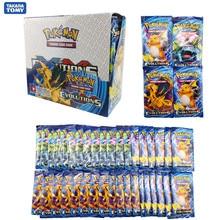 Boîte de cartes Pokemon TCG, 324 pièces, cartes brillantes, soleil et lune, évolutions, Booster, jeu, jouet, cadeau d'anniversaire pour enfants