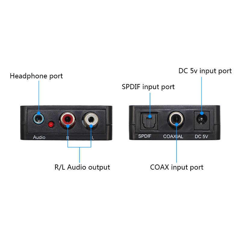 Wiistar Digitale al Convertitore Analogico Digitale SPDIF Ottico ad Analogico L/R Converter Ottico Toslink a 3.5mm Martinetti adattatore Audio