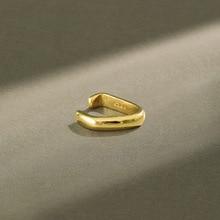 100% 925 Sterling Silver Earrings 2020 Simple Geometric Gold Silver Clip Earrings For Women Ear Cuff Clip On Earrings Jewelry summer style snake ear cuff earrings for women monaco earings clip on ear fashion jewelry bijoux one set silver jewelry