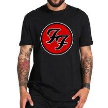 Foo fighters t camisa banda rock tshirt 100% algodão do vintage premium t topos tripulação pescoço manga curta camisa
