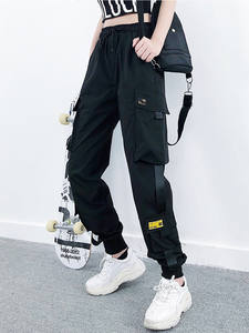 Loose Trousers Cargo-Pants Joggers Female Streetwear Black Plus-Size Casual Fashion Women