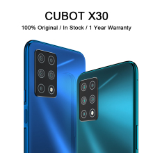 "Cubot x30 celular inteligente 4g banda global cinco câmera traseira 256gb smartphone nfc 6.4 ""fullview display android10 celular"