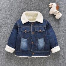 IENENS Winter Coat Kids Baby Boys Girls Jacket Clothes Clothing Infant Boy Girl Child Tops Wool Jackets Denim Coat