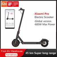 Xiaomi-patinete eléctrico Mijia M365 Pro, versión Global, aeropatín inteligente, Longboard, 2 ruedas, para adulto, batería de 45km