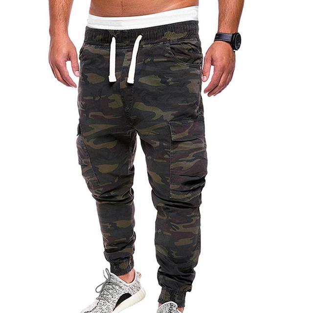 De talla grande de los hombres pantalones de camuflaje militar pantalones Multi bolsillos de carga pantalones de jogging ropa Streetwear Pantalones 1