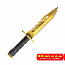 17cm*17cm For CSGO Skin M9 Knives Auto Decal DIY Bumper Decoration Car Repair Sticker Vinyl Scratch-proof Decor