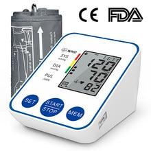 Kan basıncı monitörü üst kol otomatik dijital kan basıncı monitörü manşet ev BP tansiyon aleti ile büyük LCD ekran