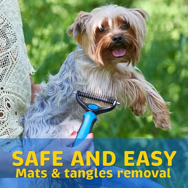 Pet Hair Removal Detangler Comb for Dogs Cat Double sided Brush Kenya