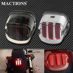 Image 1 - Motorcycle Red LED Tail Light Smoke/Chrome Lens Rear Brake Stop License Plate Lamp For Harley Softail Touring Dyna Sportster XL