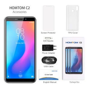 "Image 2 - HOMTOM C2 4G Smartphone 5.5 ""אנדרואיד 8.1 MTK6739 Quad Core 2GB RAM 16GB ROM טביעת אצבע פנים מזהה נייד טלפון"