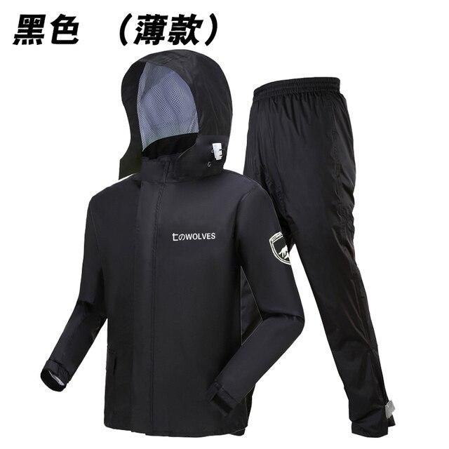 Adults Thin Raincoat Rain Pants Suit Green Waterproof Suit Motorcycle Rain Coat Jacket Outdoor Men and Women Hiking Set Gift 5