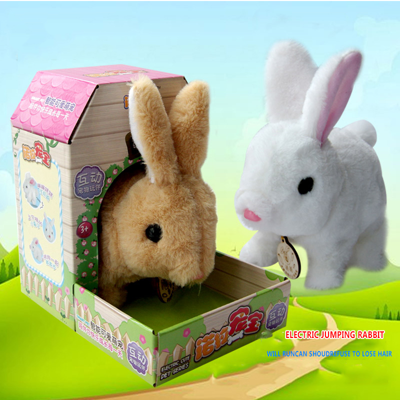 Simulated Rabbit Plush Toy Nora Zonbao Electric White Rabbit Will Walk And Scream Animal Doll Toy Children's Gift