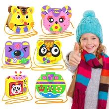 kindergarten lots arts crafts diy toys Cartoon Children's bag crafts kids educational for children's toys Fun girl/boy gift 1890