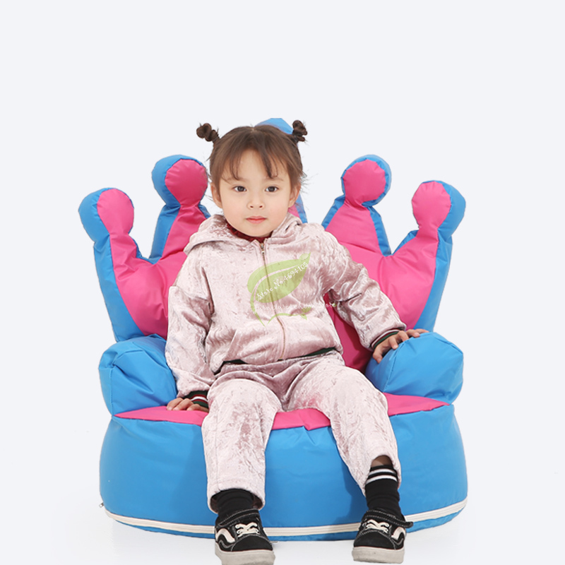 European Children's Small Sofa Crown Cartoon Removable And Washable Sofa Princess Room Decoration Single Infant Kids Furniture
