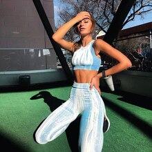 Women Sport Suit Fitness Clothing Wear Yoga Set Gym Jogging Suits Sportswear Running Leggings Sports Bras+Leggings L