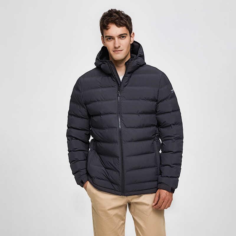 Tiger Kraft 2019 NEUE Weiße Ente Unten Winter Jacke Männer Parka Verdickt Puffer Jacke mit Kapuze Männliche Warme Mantel