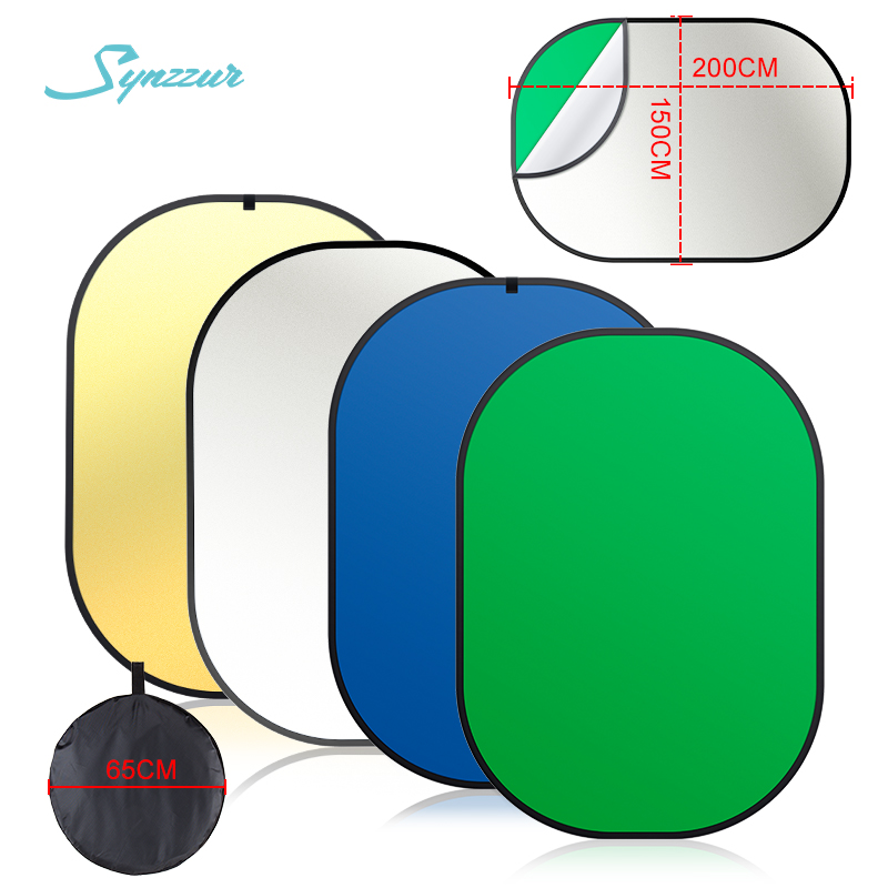150*200cm 4 In 1 Photography Light Oval Photo Multi Reflector Disc Portable Green Screen Collapsible Studio Reflector Portatil image