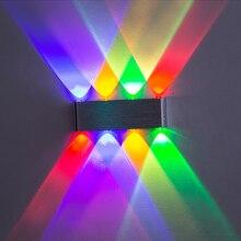 Ip65 위로 벽 램프 Led 실버 알루미늄 야외 실내 현대 홈 계단에 대 한 침실 머리맡 욕실 빛