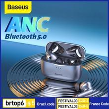 Baseus S2 słuchawki Bluetooth ANC słuchawki TWS prawdziwe słuchawki bezprzewodowe Anti redukcja szumów zatyczki do uszu z 4 mikrofonowymi zestawami słuchawkowymi