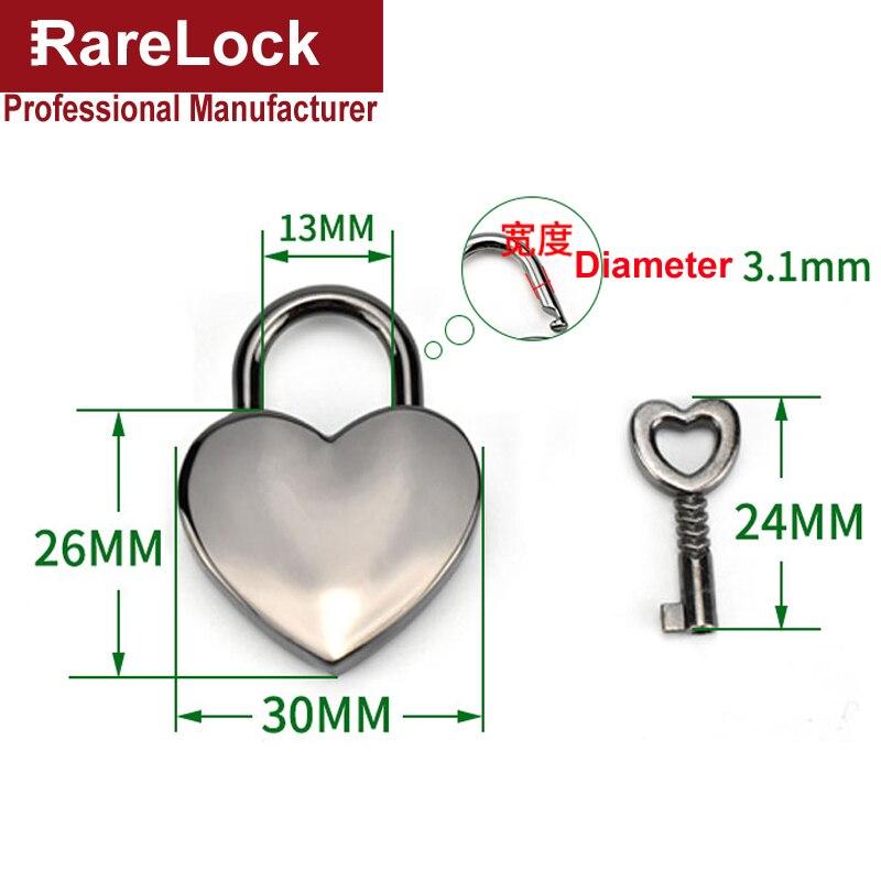 Купить с кэшбэком Heart Shaped Padlock 3 Color Lock for Women Hand Bags Backpack Jewelry Box DIY Rarelock MMS510 ii