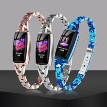 Business DR66 Smart Bracelet Watch IP68 Waterproof Bluetooth Color Screen Bracelet Sleep Monitoring Fitness Activity Pedometer(China)