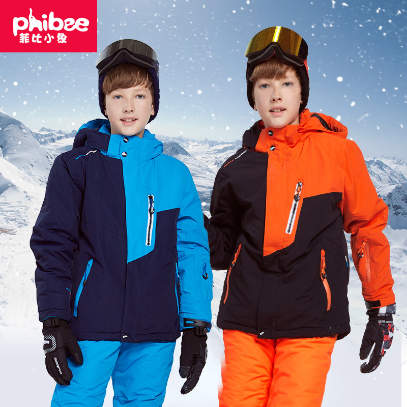 Cross Border Electricity Supplier Phibee Phoebe Baby Elephant Genuine Product CHILDREN'S Ski Suit Thick Set Men And Women Child