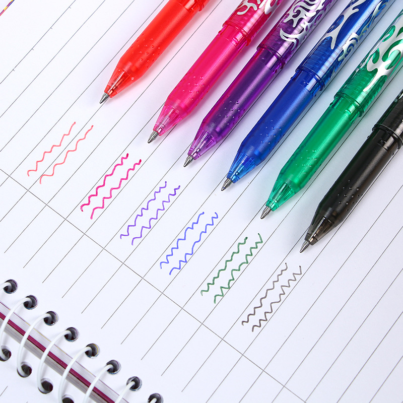 8pcs set 0 5mm Erasable Pen Magical Writing Neutral Pen Gel Pen