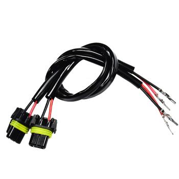 YUNPICAR H1 H3 do 9006 HB4 modernizacji kable w wiązce dla LED reflektorów światła przeciwmgielne gniazdo złącza Adapter (zestaw 2) tanie i dobre opinie Drut miedziany