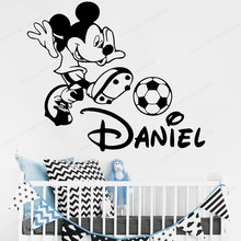 kids room wall decor mickey wall sticker vinyl personalized custom name wall decal play room decoration  JH188 personalized boy name wall decal mickey head ears vinyl wall sticker kids room custom name wall decor jh16