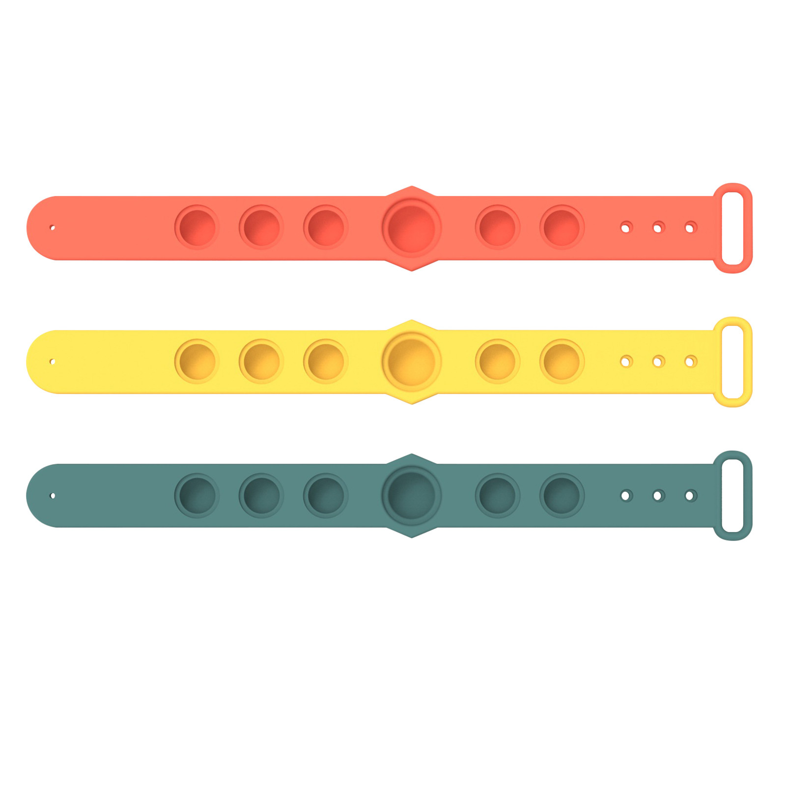Decompression Toys Bracelet Fidget Relief Hand-Figet Soft-Silicone Simple Dimple Gifts img4