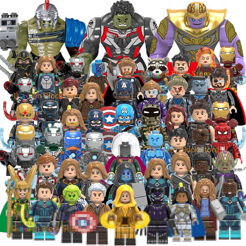 Super Heroes The Avengers Building Blocks Toy Thor Iron Man Little Action Figures Doll Bricks Set Star Wars Toys For Children
