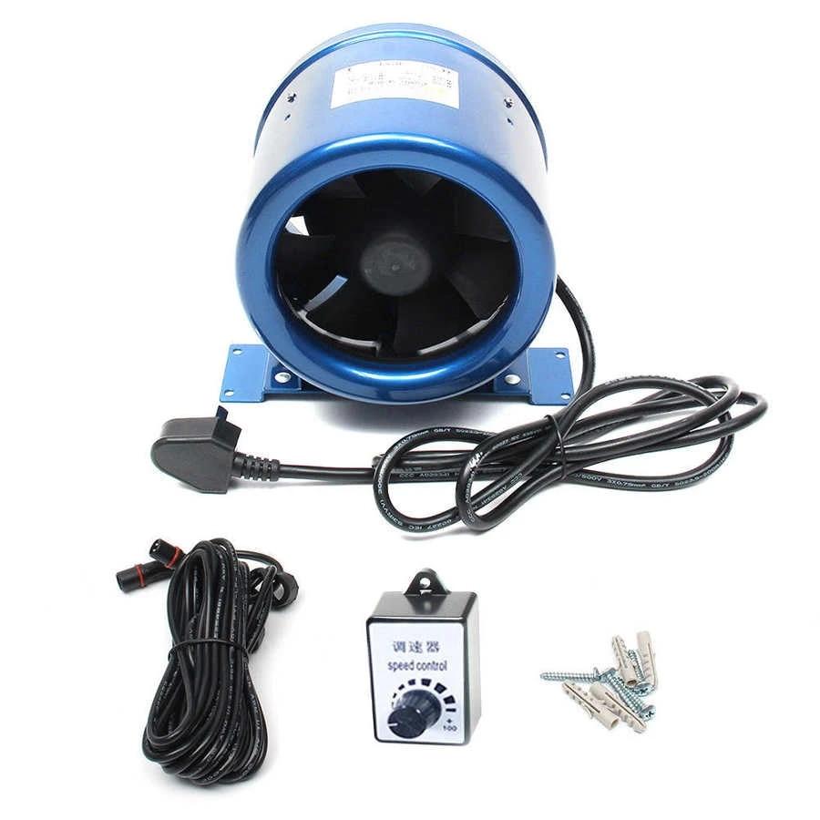 6inch silent ventilation exhaust fan adjustable speed control air ventilator pipe duct fan extractor for garden kitchen toilet