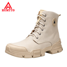 Купить с кэшбэком Breathable Light Cushioning Shoes Woman High Quality Lace-up Non-slip Boots Fashion Casual High-top Work Boots