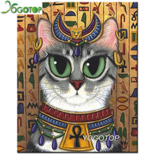 Ancient Egyptian God Cat,Full Square Round Drill 5D DIY Diamond Painting Egypt 3D Embroidery Mosaic Cross Stitch decor YY1513(China)