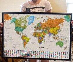 1 шт. холст винтажная карта мира страны флаг картина маслом Ретро 200x136 см Национальный флаг размер постера украшение стены 200x136