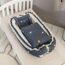 Детская спальная корзина для новорожденных Детская кроватка-кровать портативная складная дорожная Люлька-качалка 3 шт./компл. с защитой от одеяла YHM005