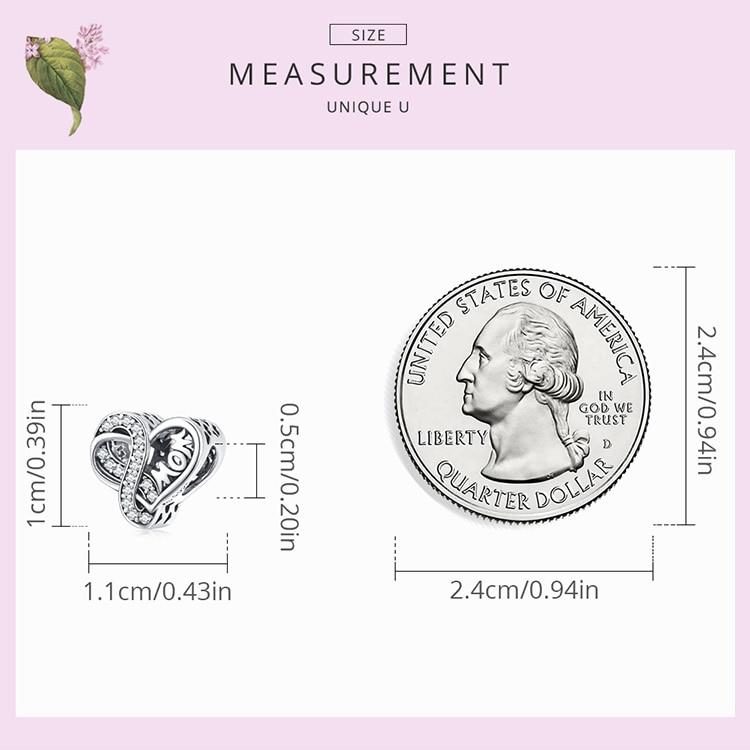 size 925 Sterling Silver Infinite Love Charm Mom Blue Glass Bead Rose Cross for Original Bracelet Bangle Women Fashion Jewelry