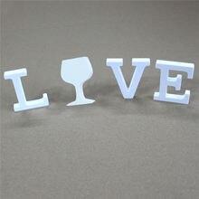 Толщиной 25 мм 1 комплект белые деревянные буквы love & diy