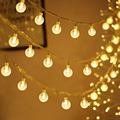 Led Crystal Ball String Lights Garland Christmas Fairy Lighting Strings for Outdoor Holiday Wedding Xmas Party Home Decoration