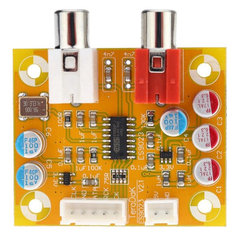 Dac Sabre Es9023 carte décodeur analogique I2S 24 bits 192 Khz pour Raspberry Pi