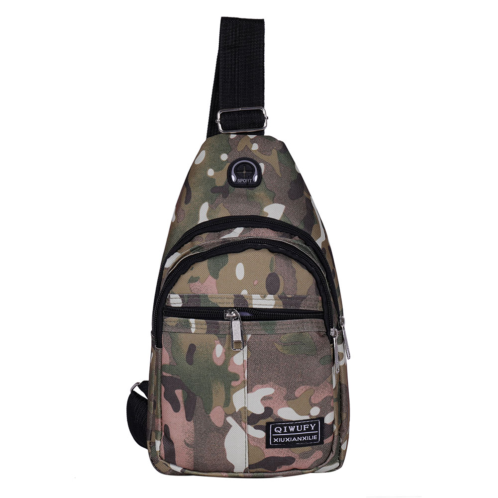 Camouflage Male Shoulder Small Nylon Printing Messenger Bags Printing Shoulder Messenger Bags Men Travel Crossbody Chest Bags